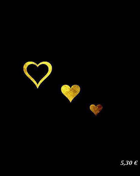 3 Fantasy Heart Gold Sin Jewels